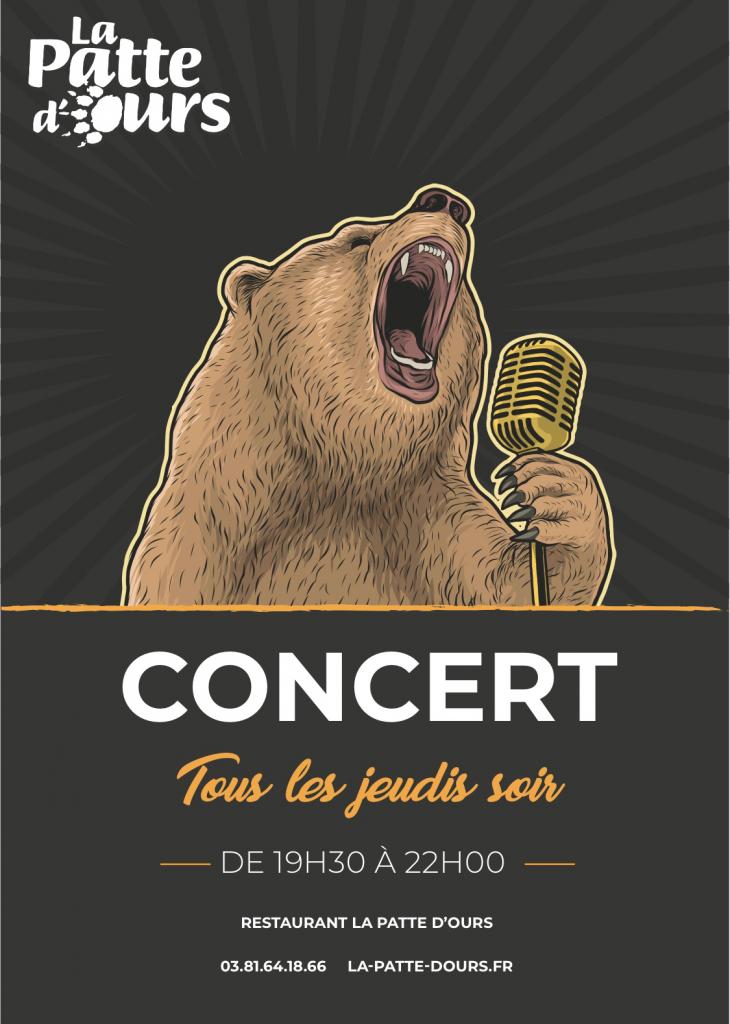 la patte d'ours concert